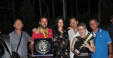Caput Lucis 2015 tutti i premiati - F.lli Vaccalluzzo - Mega Angelo - Nadia Padalino Direttore Caput Lucis - Pirotecnica PadrePio-2