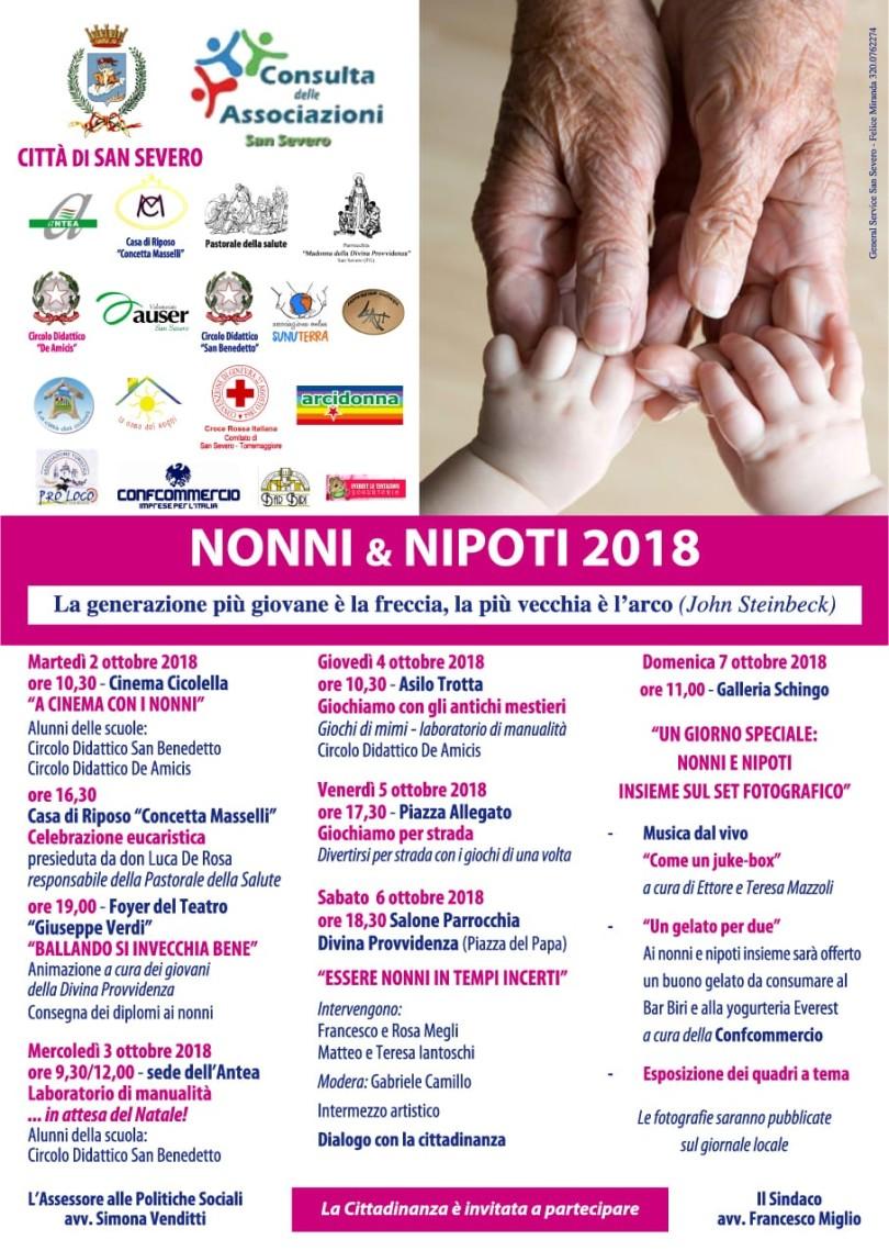 Calendario Festa Dei Nonni.San Severo La Festa Dei Nonni Nipoti 2018 La Gazzetta