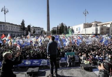 Lega in piazza a Roma, foto ANSA (5)