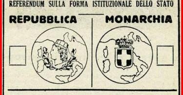 SCHEDA REPUBBLICA-MONARCHIA