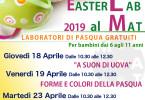 locandina laboratori pasqua al MAT_2019