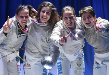 oro europei squadre sciabola femminile