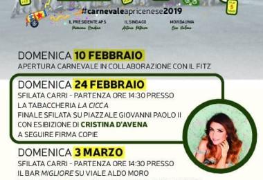 programma carnevale 2019