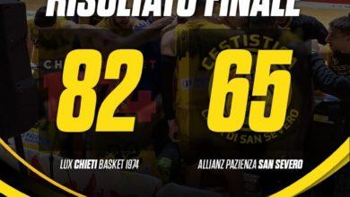 Photo of Basket: sconfitta netta della Cestistica a Chieti per 82-65