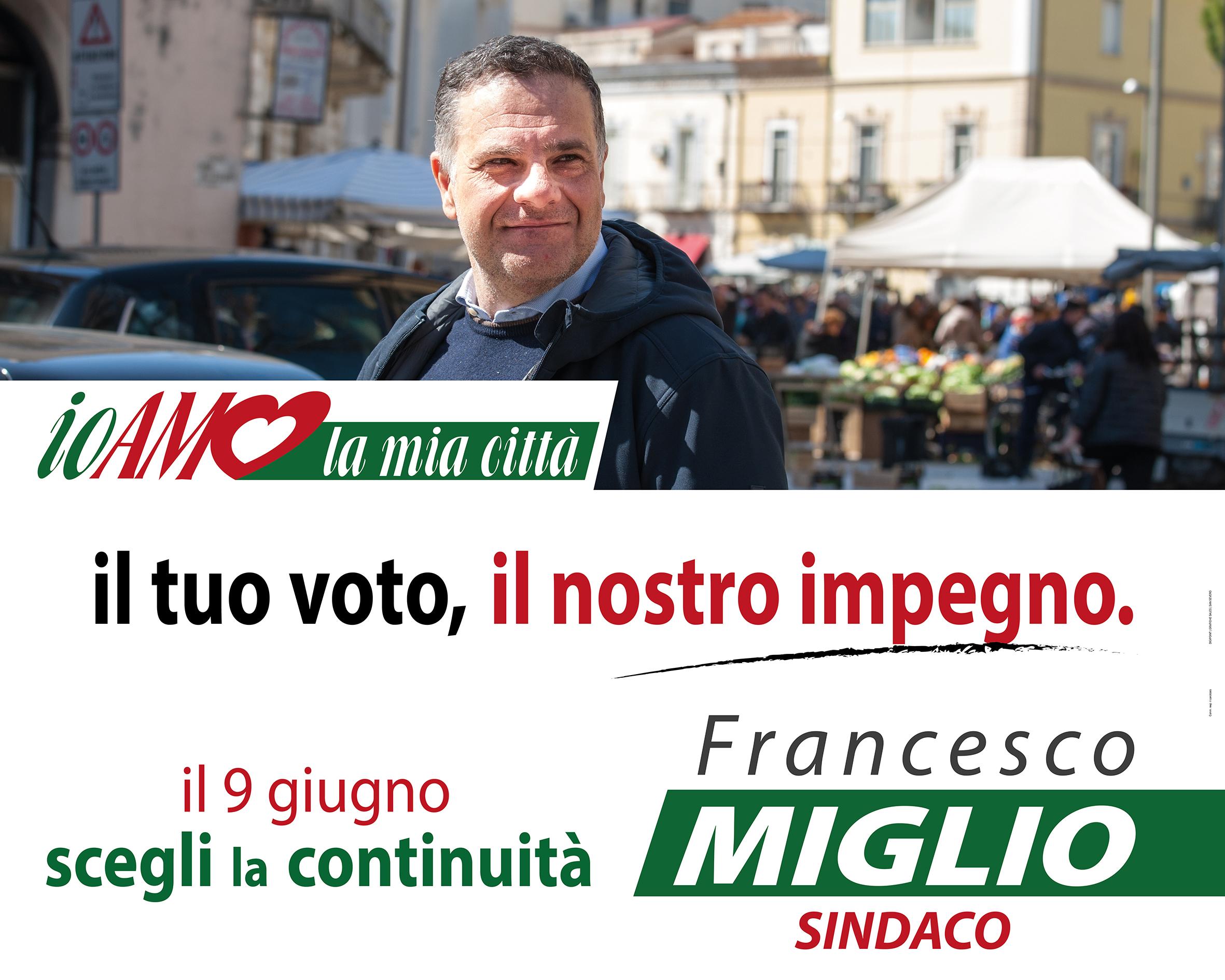 """Photo of L'appello al voto di Francesco Miglio sindaco """"io amo la mia città"""""""