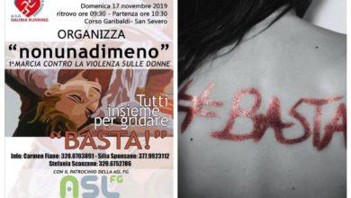 Photo of SAN SEVERO: DOMATTINA LA PRIMA MARCIA CONTRO LA VIOLENZA ALLE DONNE