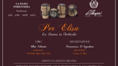 """Photo of La Casa d'Araprì presenta """"Per Elisa – La Dama in Verticale"""" degustazione della Dama Forestiera"""