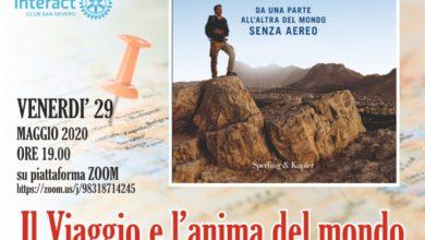"""Photo of LUCA  SCIORTINO,  SCRITTORE  E GIORNALISTA  A:  """"IL  VIAGGIO  E  L'ANIMA  DEL  MONDO"""";  evento sulla piattaforma zoom."""