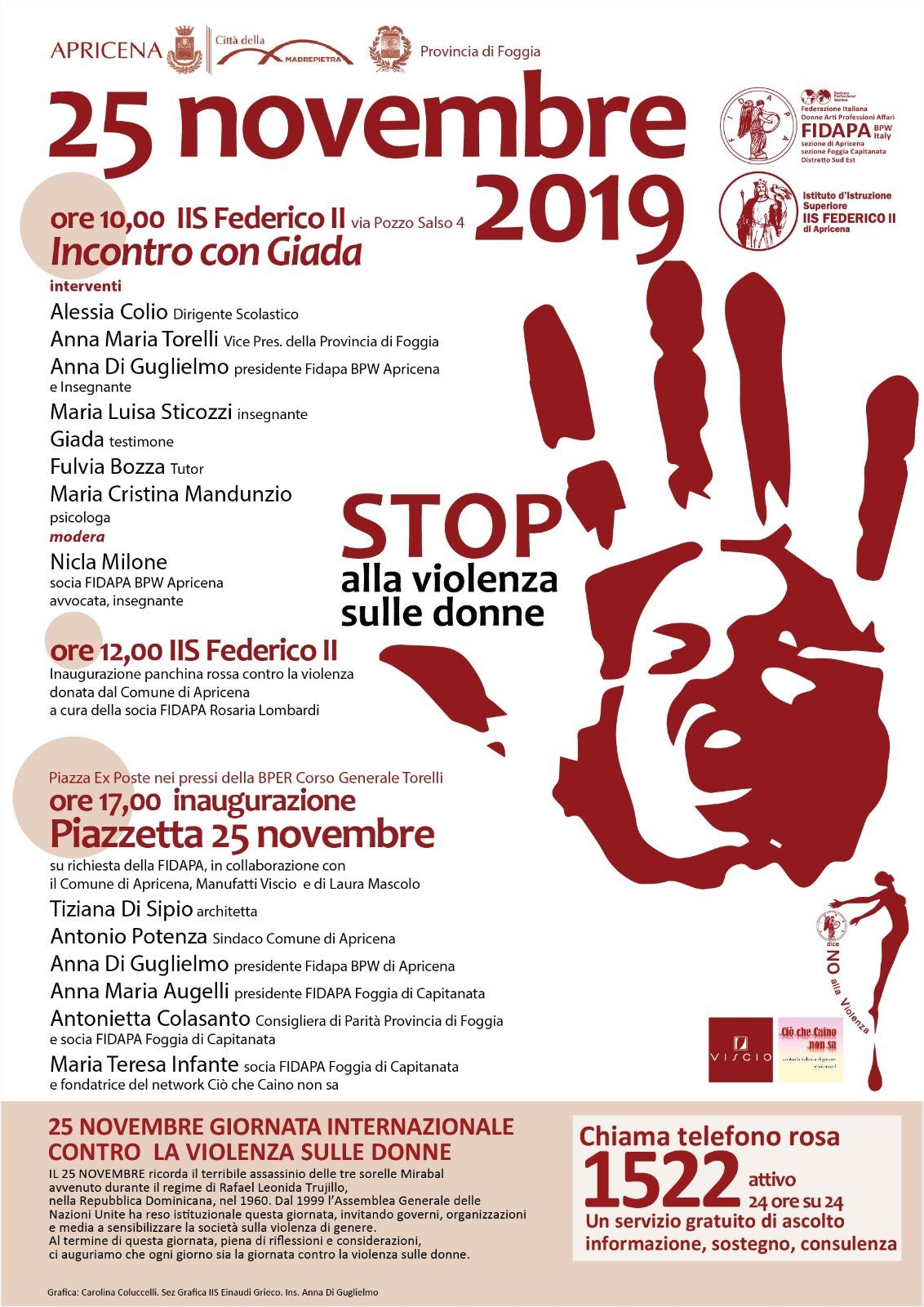 apricena stop alla violenza sulle donne la gazzetta di san severo news di capitanata apricena stop alla violenza sulle