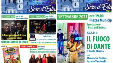 """Photo of San Severo: PROSEGUONO GLI APPUNTAMENTI CON LA RASSEGNA """"SERE D'ESTATE 2021""""."""