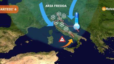 Photo of Sferzata artica martedì, temporali e fiocchi di neve anche in pianura