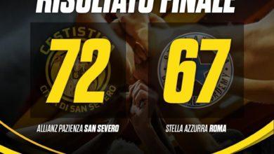 Photo of Basket: gara1 dei playout è dell'Allianz San Severo, battuta la Stella Azzurra Roma per 72-67