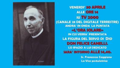 """Photo of A """"L'ORA SOLARE"""" verrà presentata la figura del Servo di Dio don Felice Canelli."""