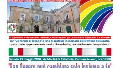 Photo of San Severo: Domani Flashmob in memoria delle vittime di mafia