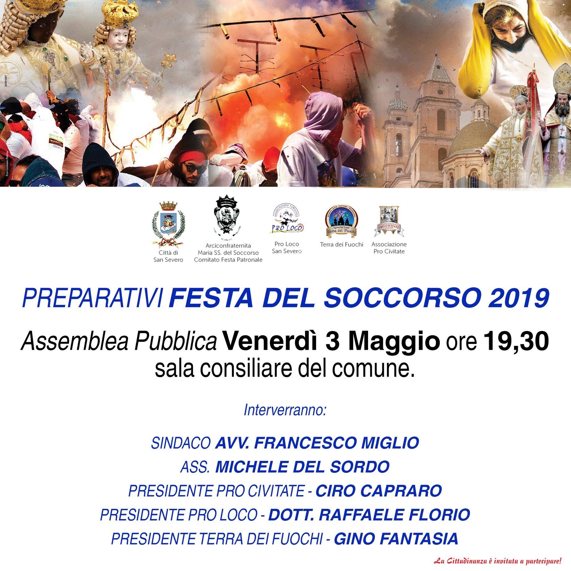 """Photo of """"La Festa del Soccorso è di tutti"""" questa sera assemblea pubblica in comune"""