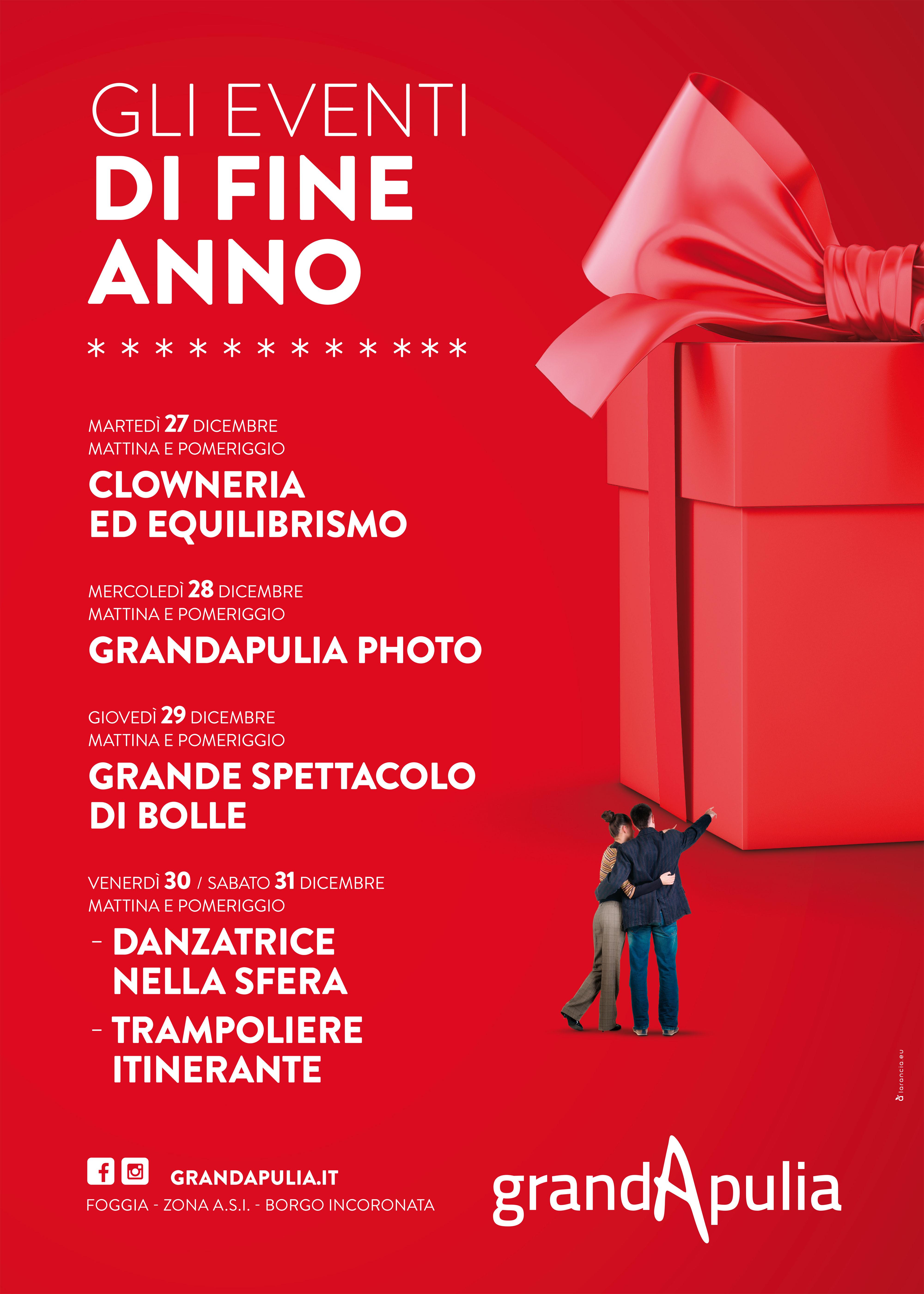 Photo of Eventi di fine anno al GrandApulia Un motivo in più per scoprire il nuovo Centro Commerciale