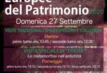 Photo of METAMORFOSI: AL MAT DI SAN SEVERO IL 26 E 27 SETTEMBRE LE GIORNATE EUROPEE DEL PATRIMONIO 2020.