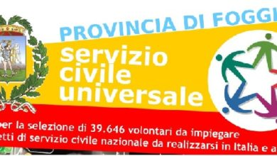 Photo of SERVIZIO CIVILE UNIVERSALE:  ECCO IPROGETTI DELLA  PROVINCIA DI FOGGIA