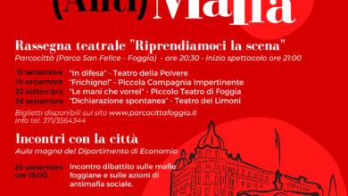 """Photo of """"Parliamo di (anti)mafia"""". Ciclo di incontri e spettacoli teatrali"""