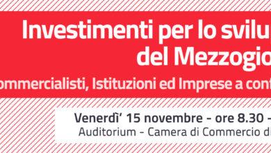 Photo of Commercialisti, istituzioni e imprese per lo sviluppo del Mezzogiorno.