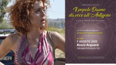 """Photo of Orsara, Vanessa Scalera con """"Il popolo Dauno dà voce all'Antigone"""""""