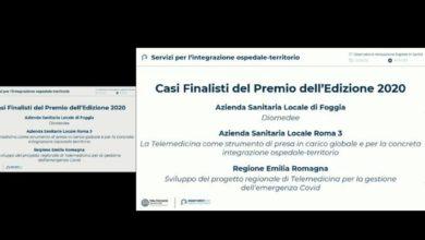 """Photo of Grande successo della ASL Foggia al premio """"Innovazione digitale in Sanità 2020"""" del Politecnico di Milano Secondo posto per il """"Progetto Diomedee"""" nella categoria """"Servizi per l'integrazione ospedale-territorio"""""""