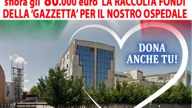 Photo of SFIORA GLI 80.000 EURO LA RACCOLTA FONDI DELLA 'GAZZETTA' PER IL NOSTRO OSPEDALE
