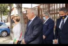 Photo of (video) Il Prefetto Lamberto Giannini in visita alla Questura di Foggia  per scoprimento di una stele commemorativa dei caduti della Polizia di Stato