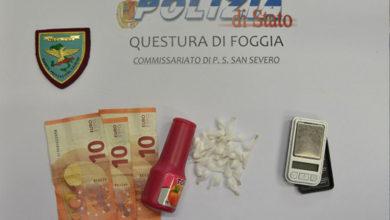 Photo of SAN SEVERO: Arrestato pregiudicato, già sottoposto agli arresti domiciliari, trovato in possesso di sostanza stupefacente.