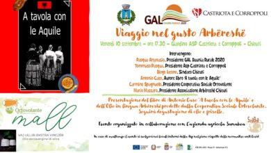 Photo of Viaggio nel gusto Arbëreshë, il 10 settembre evento GAL Daunia Rurale 2020 a Chieuti