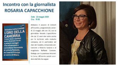 Photo of Antonella CORNA intervista la giornalista Rosaria CAPACCHIONE che è sotto scorta dal 2008 per le sue inchieste sulla camorra