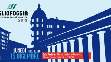 Photo of Qualità della vita a Foggia: sarà presentato Lunedì 16 Dicembre, presso la sala Fedora del Teatro Giordano, il nuovo dossier di MeglioFoggia