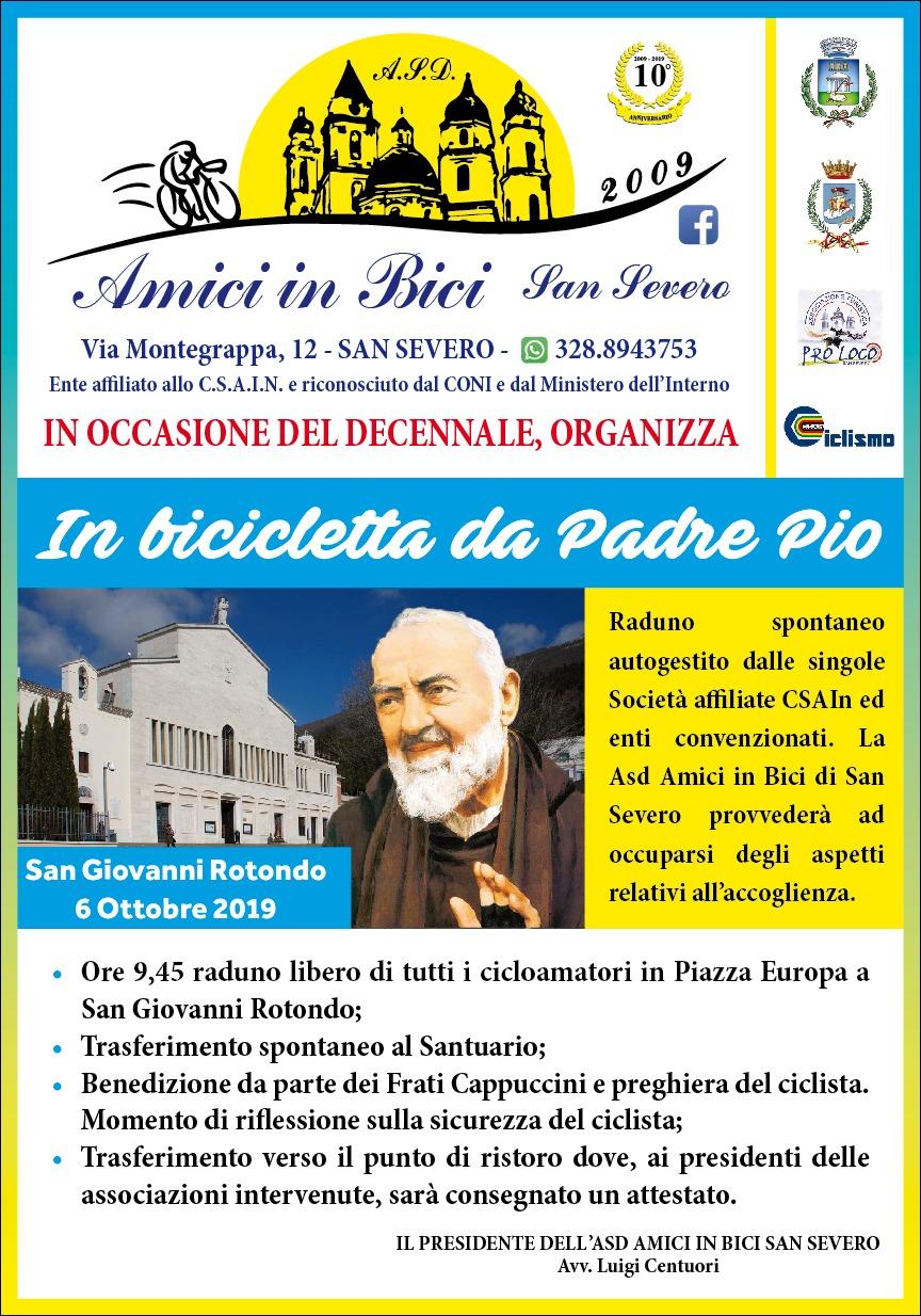 Photo of IN BICICLETTA DA PADRE PIO – ASD AMICI IN BICI SAN SEVERO – DOMENICA 6 OTTOBRE