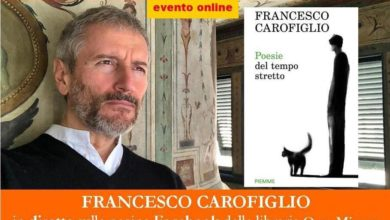Photo of ALL'0RSA MINORE EVENTO ONLINE: FRANCESCO CAROFIGLIO presenta POESIE DEL TEMPO STRETTO