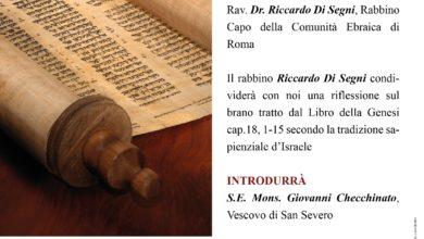 Photo of A San Severo la comunità diocesana incontrerà il Rav. Dr. Riccardo Di Segni, Rabbino Capo della Comunità Ebraica di Roma.