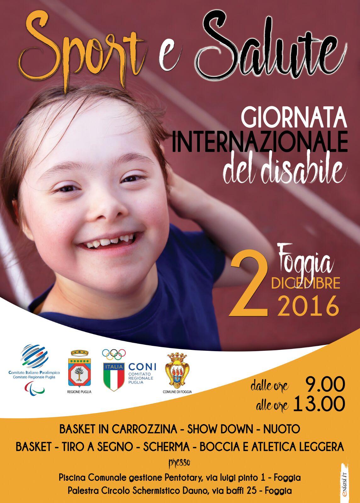 Foggia Tante Attivita In Programma Per La Giornata Internazionale Del Disabile La Gazzetta Di San Severo News Di Capitanata