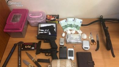 """Photo of OPERAZIONE """"RETIS"""" Cocaina a Manfredonia: 5 manfredoniani arrestati per  detenzione e spaccio di stupefacenti."""