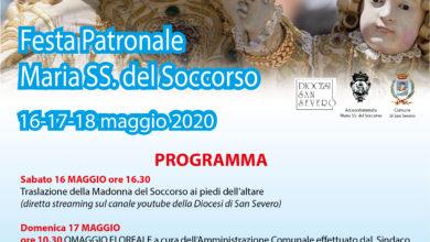 Photo of Programma festa Patronale Maria SS. del Soccorso