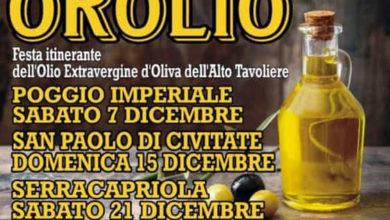"""Photo of QUESTA SERA  A POGGIO IMPERIALE """"OROLIO"""",  LA FESTA ITINERANTE DELL'OLIO EXTRAVERGINE D'OLIVA"""