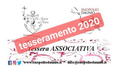 Photo of ENOPOLIO DAUNIO: AVVISO AI SOCI TESSERAMENTO 2020